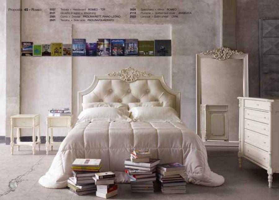 Кровать в белом цвете Volpi Romeo