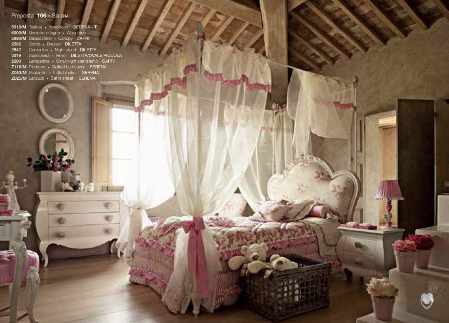 Кровать с балдахин для детской Volpi Serena