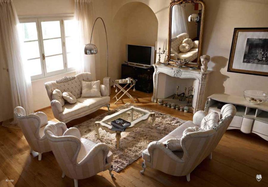 Мягкая мебель в светлых тонах Volpi Capri