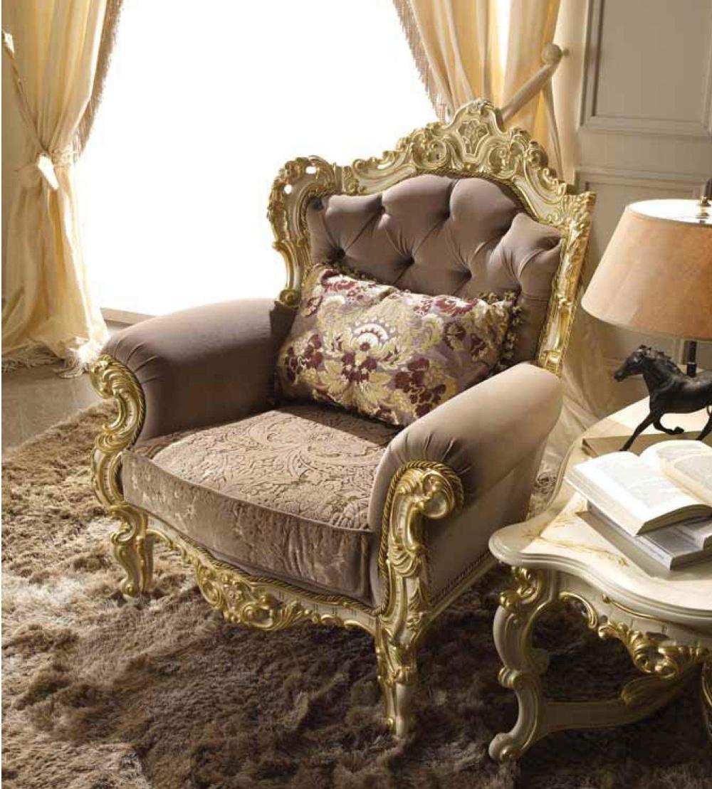 Кресло с резным декором Alberto Mario Ghezzani -Monnalisa