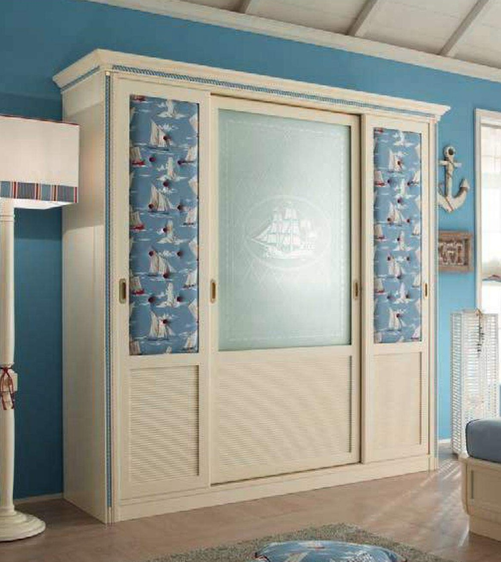 Шкаф со средней створкой из стекла Caroti Stella Marina
