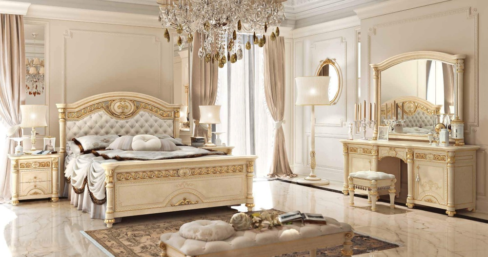 Спальня в цвете слоновая кость Valderamobili - Luigi XVI