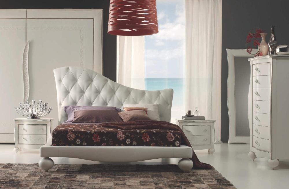 Кровать с изголовьем капитоне Ferretti e Ferretti
