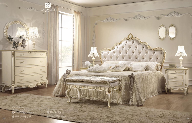 Кровать с резным изголовьем Antonelli Moravio & C - Belvedere